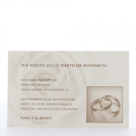 Save the date kaartje White rose - 724503